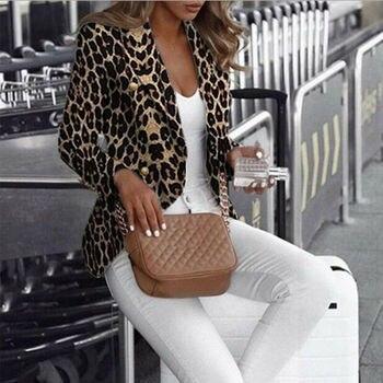 2019 Fashion Brand New Hot Leopard Jacket Women Sweater Top Warm Casual Winter Cardigan Long Sleeve Coat