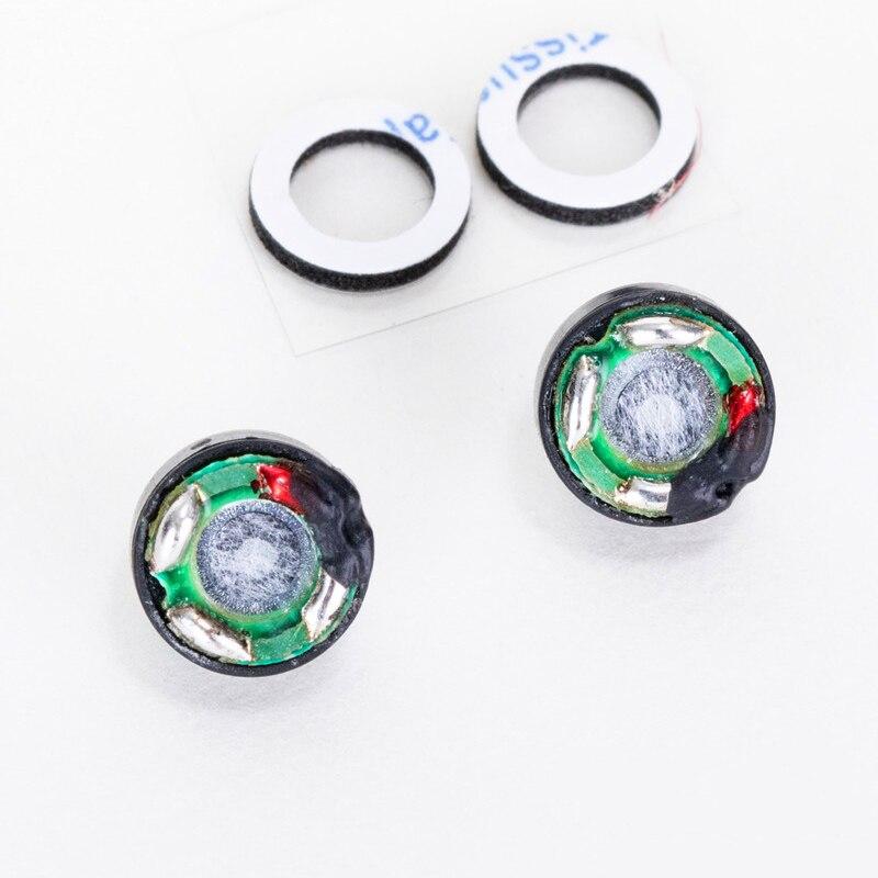 1 Pair 8MM 32 ohm Convex Heavy Bass Headphone Speakers Driver Unit Magnetic Headset Loudspeaker
