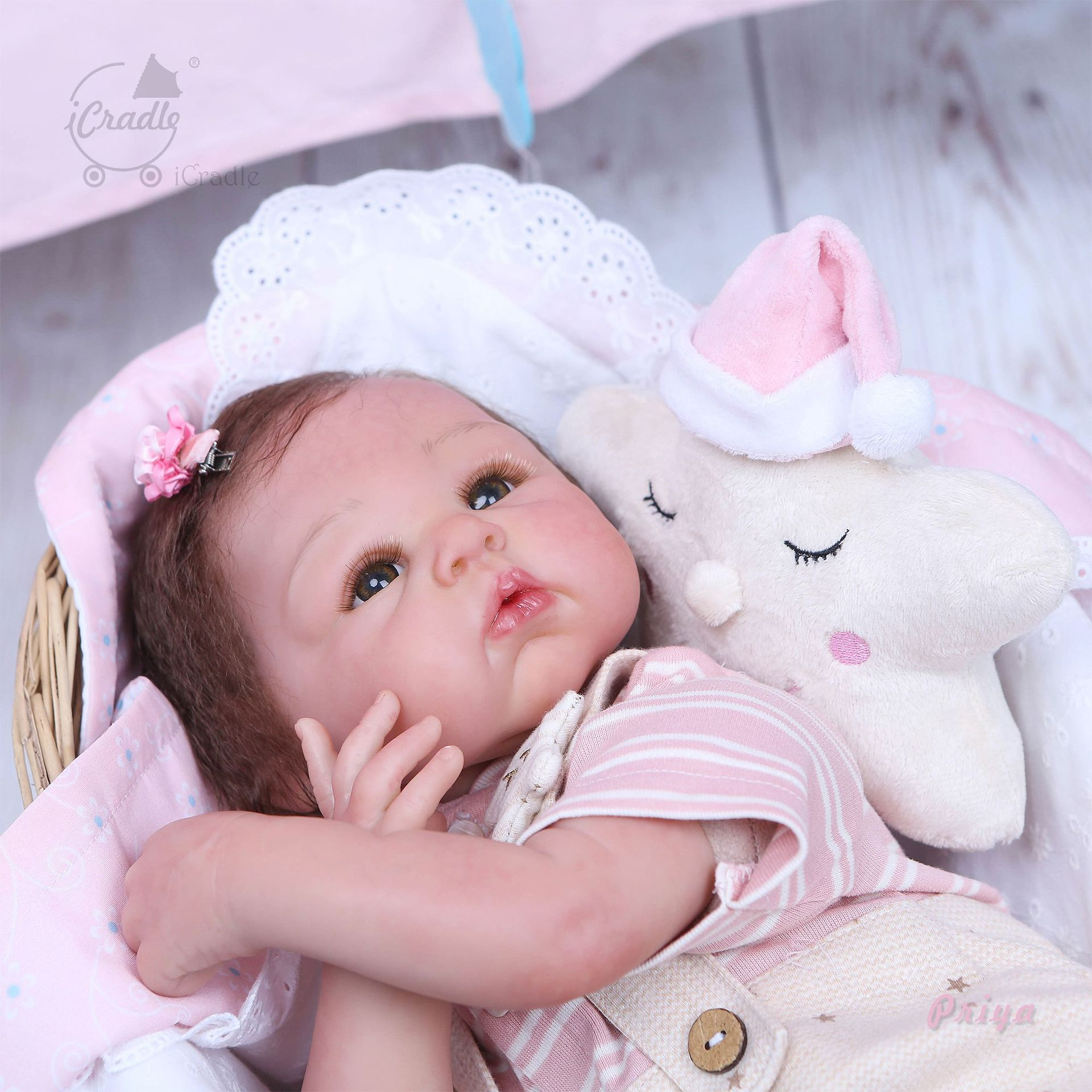 Entirely Handmade High-End Model Rebirth Infant Doll Creative Cool Gift Cute Realistic Baby