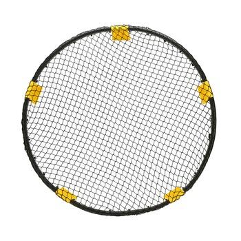 Spike gra z piłkami zestaw Mini siatkówka plażowa z 3 kulkami Spikeball sprzęt do ćwiczeń na świeżym powietrzu tanie i dobre opinie 0003 Beach Volleyball Black+Yellow 55cmx23cmx10cm