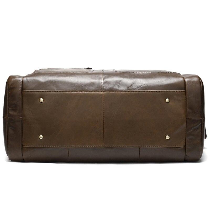 MVA Echtem Leder Gepäck Reisetaschen Männer Leder Duffle/Reisetasche Männlichen Wochenende Tasche Hand Gepäck Reisen Männer Große /Big Bags - 5