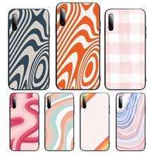 Liquid Swirl Abstract Pattern Phone Case For Samsung S note S10E 6 7 8 9 10 20 plus edge lite Cover Fundas Coque