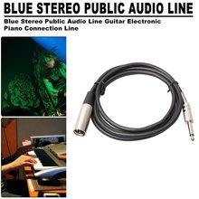 6.35 mm Jcak Male to XLR Male Audio Stereo Mic Cable 6.5 mm Jcak to XLR Male to Male Balanced Speaker Mic Cable 5m/7.6m/10m цены онлайн