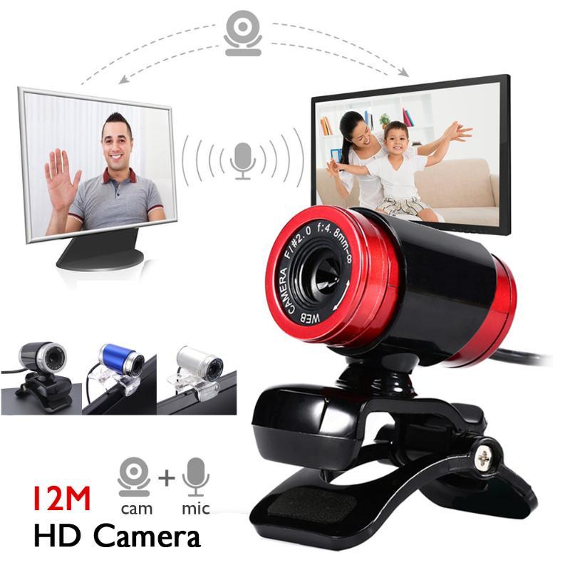 Newest Webcam USB 12 Megapixel High Definition Camera Web Cam 360 Degree MIC Clip-on For Skype Computer desktop