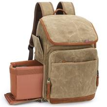 Backpack Camera-Bag Waterproof Soft-Padded Canvas Dslr-Photo Photography Large-Capacity