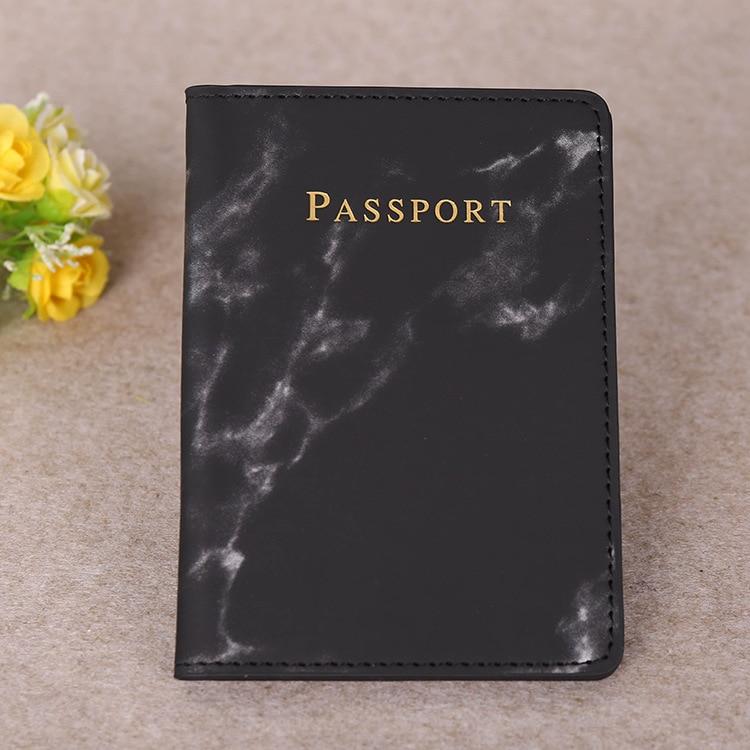 Hc30db9f2eb5a43ddbe2784fffb458105y Marble Style Passport Holder Wallet