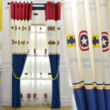 The Avengers Captain America Shield Curtains Super Hero Curtain Tulle for Boys Bedroom Living Room Cartoon Curtains 428&30(China)
