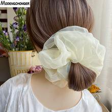 Осенние эластичные канаты для волос из органзы держатель хвоста
