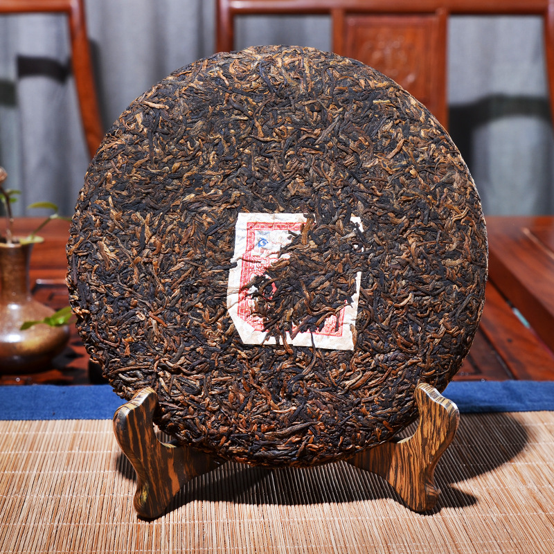 357g China Yunnan Ripe pu'er Pu'er Tea Arbor Golden Needle Big Leaf pu'erh Tea Premium Cooked Tea Cake Lost Weight Green Food 2