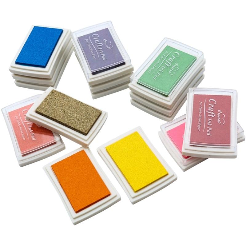 15 Pcs/Lot 15 Colors Big Size DIY Scrapbooking Stamp Inkpad Vintage Crafts Color Ink Pad Colorful Inkpad Stamps Sealing Decorati