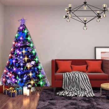 Weihnachten Baum LED String Lichter Bunte Funkelnden Kugeln 64 RGB Nacht Lampe Für Urlaub Home Garten Party Dekoration