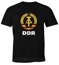 تي شيرت رجالي كاجوال عالي الجودة ، ملابس ممتعة WM DDR Nostalgie ، الصيف