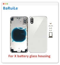 BaRuiLe Replacement Battery Cover door For iphone XR / XS MAX / X XSM /XS Back Glass Middle Frame Chassis Full Housing Assembly