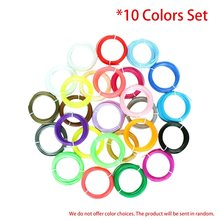 10 Colors 3D Printing Pen Filament Set 1.75mm ABS Filament High-Precision Diameter for 3D Printer Supplies Materials