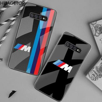 Sport car BMW M Power Phone Case Tempered Glass For Samsung S20 Plus S7 S8 S9 S10 Plus Note 8 9 10 Plus image
