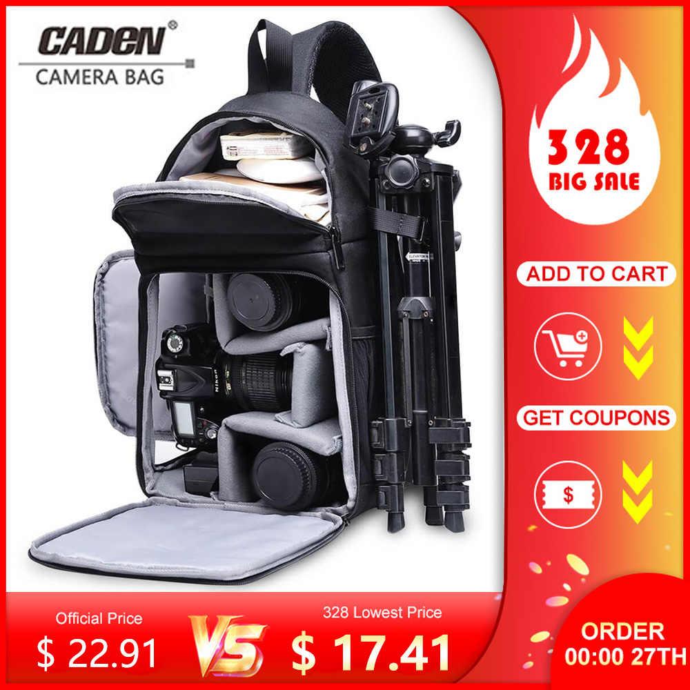 Bolso de cámara CADeN, bolso con bandolera para fotos, estuche Digital cruzado, impermeable, para lluvia, para hombre, para mujer, para Canon, Nikon, Sony, SLR
