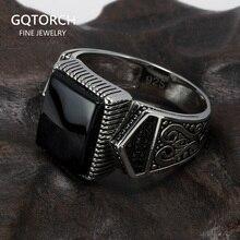 Гарантированные мужские серебряные кольца s925, антикварные турецкие кольца для мужчин, вывеска, кольцо с квадратным камнем цвета, турецкие ювелирные изделия Anello Uomo