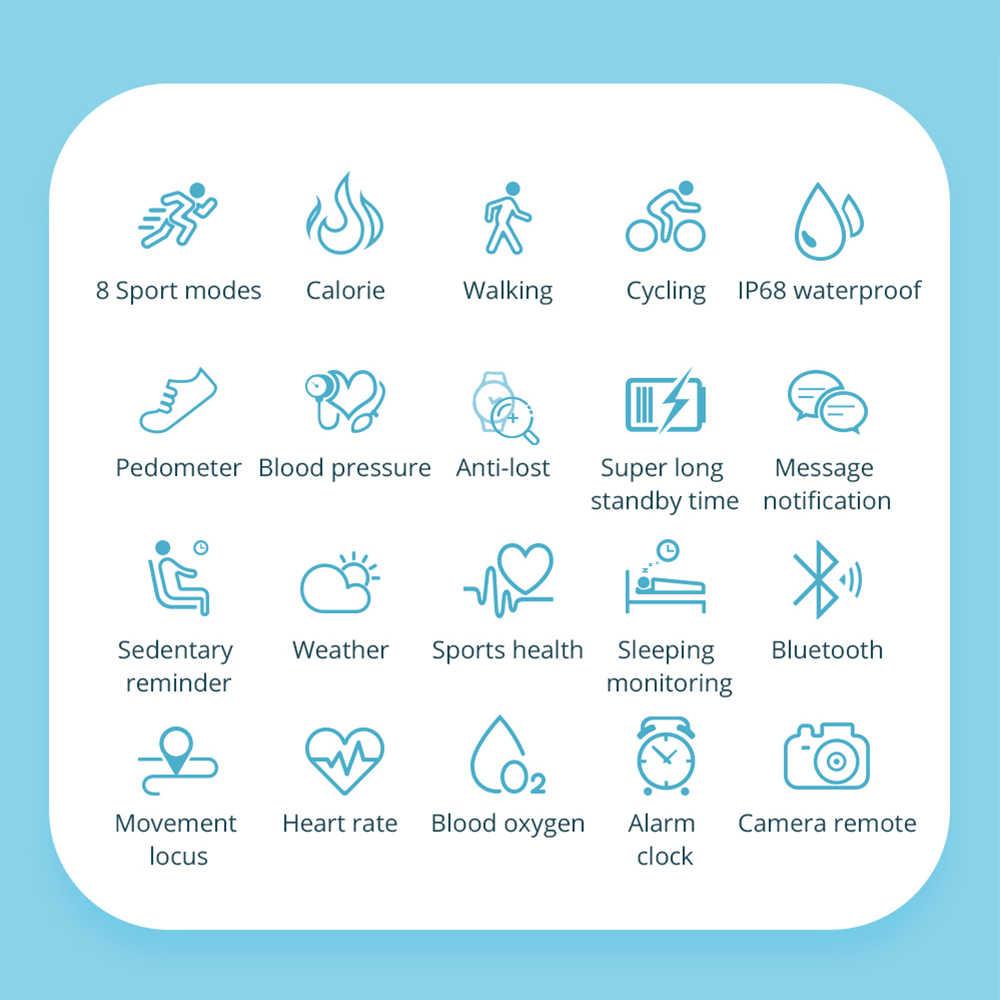 COLMI SKY 2 inteligentny zegarek IP68 wodoodporny pulsometr Bluetooth kobiety sport tracker fitness mężczyźni smartwatch dla ios Android