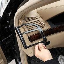 עבור מרצדס בנץ S Class W221 2008 2013 ABS כסף/פחמן רכב מרכזית לוח מחוונים צד לשקע אוויר מדבקות אביזרי רכב