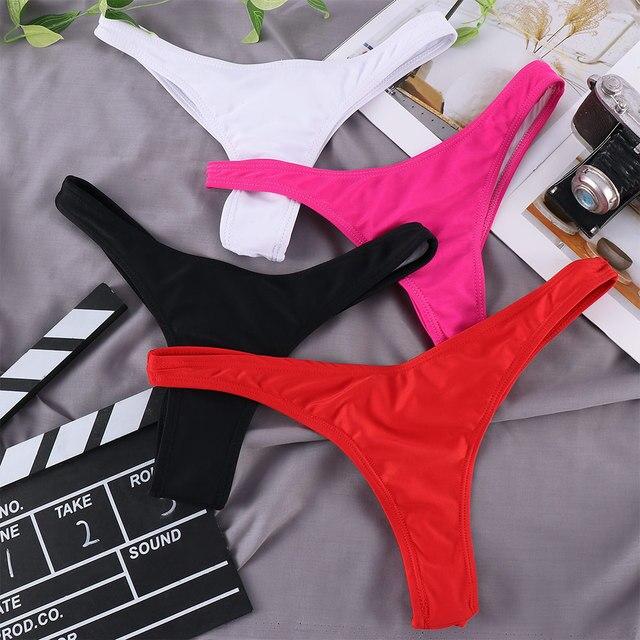 Classic Cut Short Bottoms Biquini Swim Ladies Swimsuit Women Briefs Bikini Bottom Side Ties Brazilian Thong Swimsuit 5Size