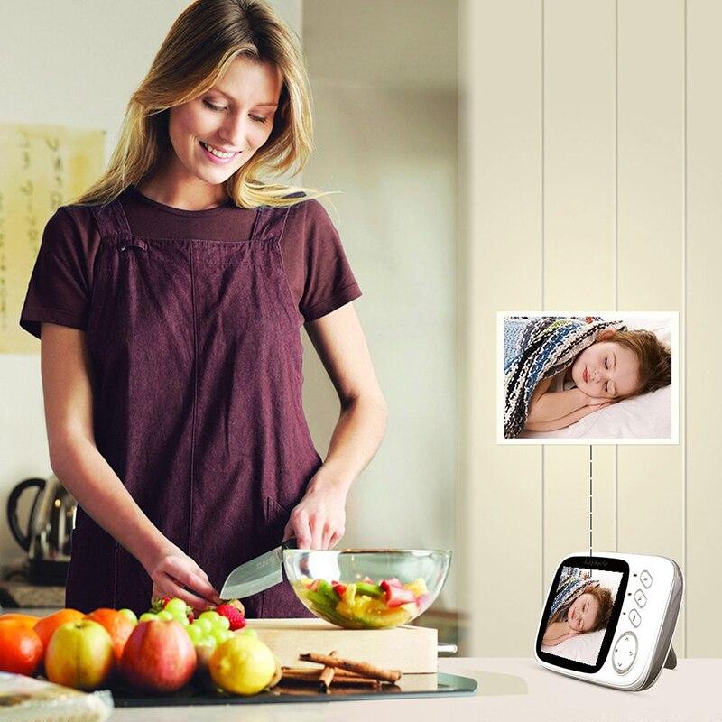 Image 5 - Neng Wireless Video Baby Monitor 4.2 Inch Nanny Camera 2 Way Talk Night Vision IR LED Temperature Monitor Infant Baby Sleep-in Baby Monitors from Security & Protection