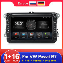 Android 9,1 coche Multimedia Player Radio navegación GPS para Volkswagen VW Passat B6 Touran GOLF5 POLO jetta 2 din Canbus WIFI RDS