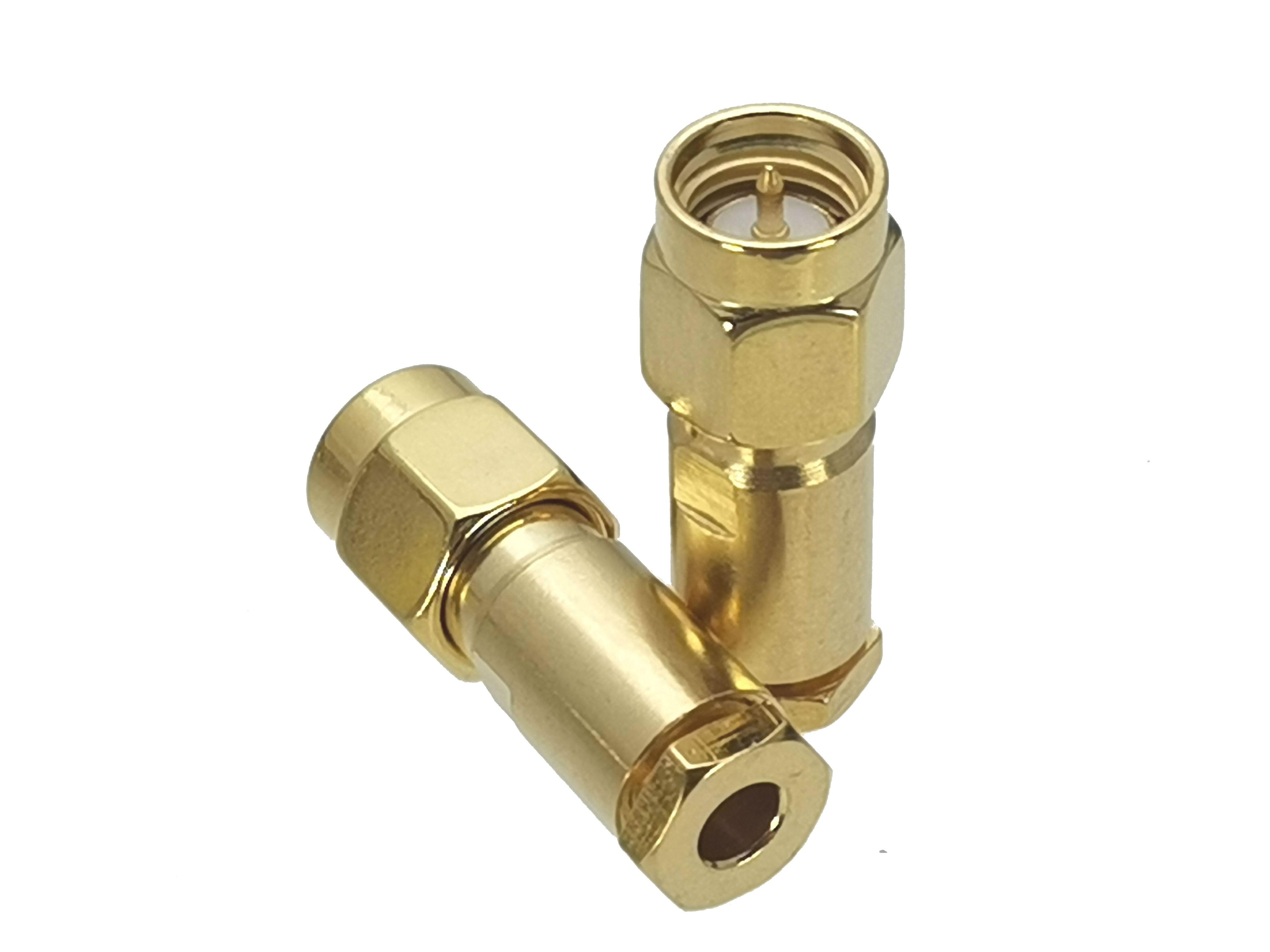 1Pcs Connector SMA Male Plug Clamp RG316 RG174 LMR100 RF Adapter Coaxial High Quanlity