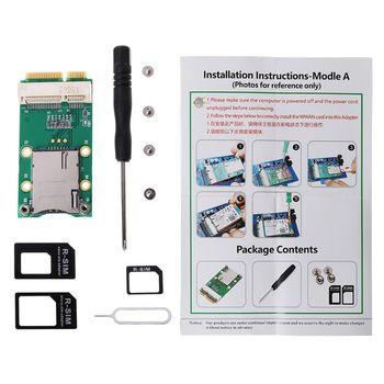 Mini PCI-E Adapter Extension Card for 3G 4G Module USIM Card Slot with SIM Card Slot for 3G/4G WWAN LTE GPS Card mini pci e 3g wwan gps module sierra mc7700 pci express 3g hspa lte 100mbp wireless wwan wlan card gps unlocked free shipping