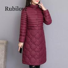 Rubilove 2019 Parkas Female Women Winter Coat Thickening Cotton Jacket  for Long Thick Warm Outwear