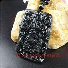 White Jade Han Dynasty Hero Guangong Guanyu Sword Amulet Pendant