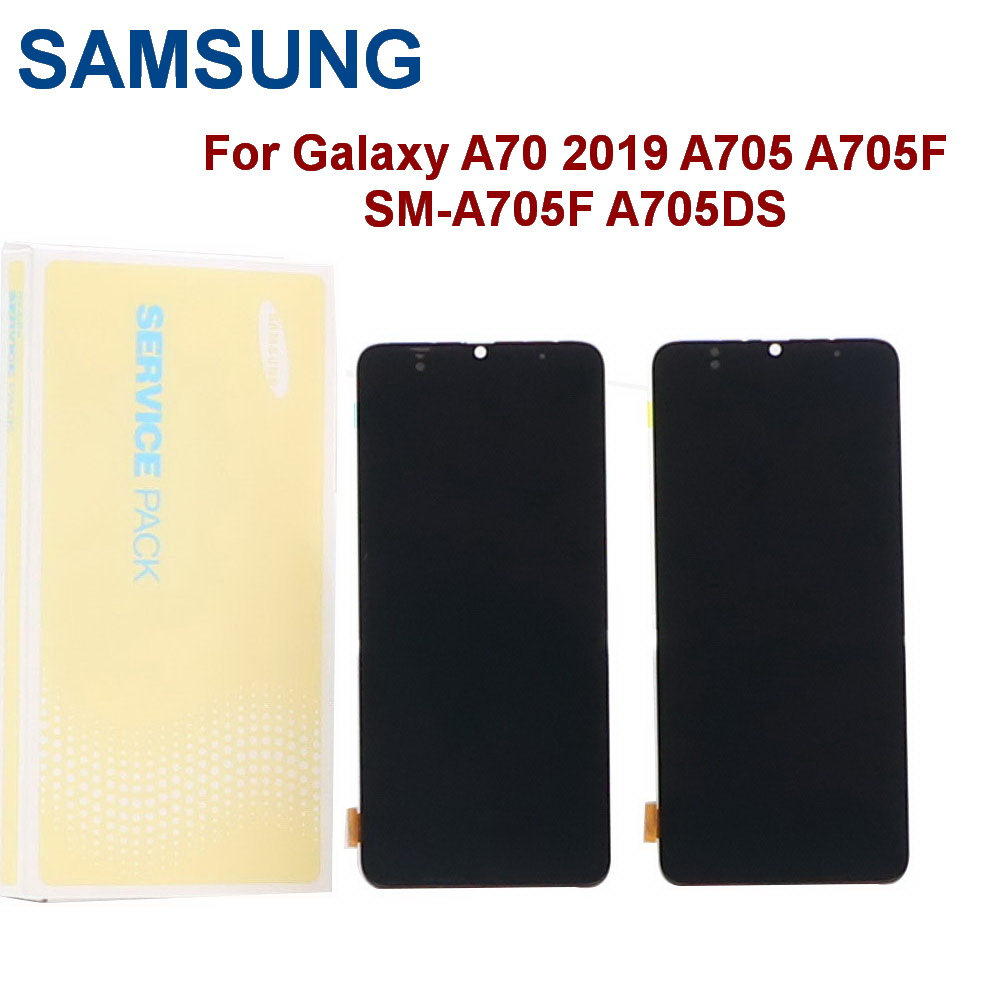 ORIGINAL SUPER AMOLED <font><b>A70</b></font> <font><b>LCD</b></font> For <font><b>SAMSUNG</b></font> Galaxy <font><b>A70</b></font> 2019 A705 A705F SM-A705F A705D <font><b>LCD</b></font> Display Touch Screen Digitizer Assembly image