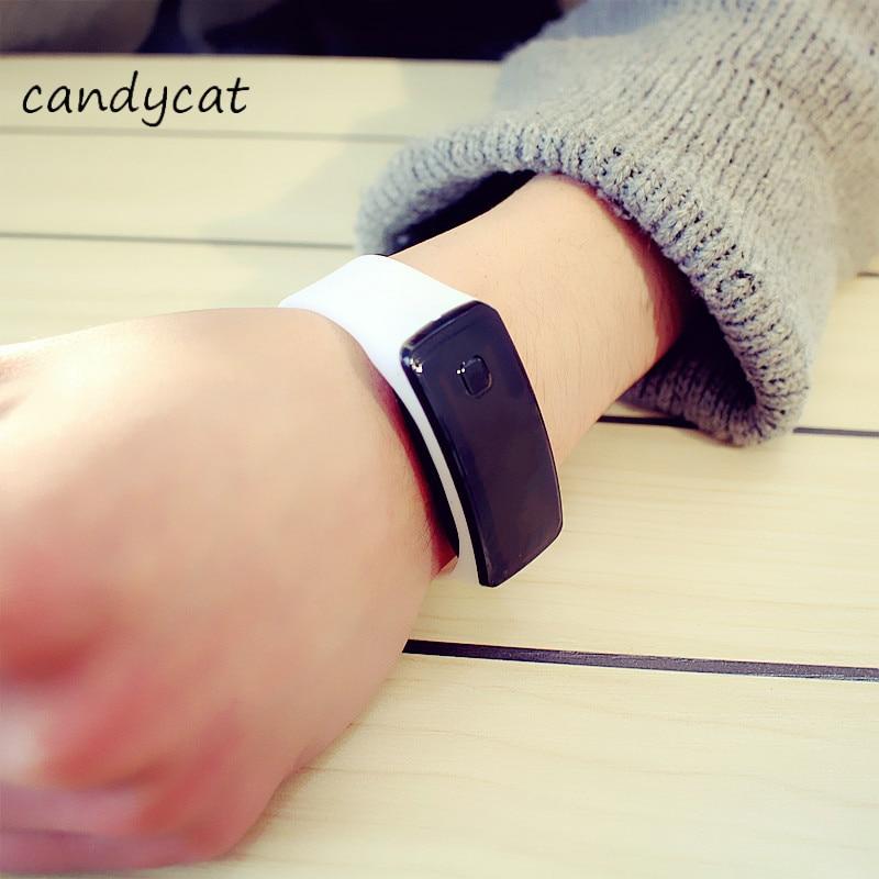 CandyCat LED Watch Fashion Wind Frozen Female Student Sports Bracelet Male Bracelet Bracelet Electronic Watch