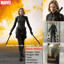 Hasbro Avengers SHF Black Widow Joints can rotate simulation model toy dolls