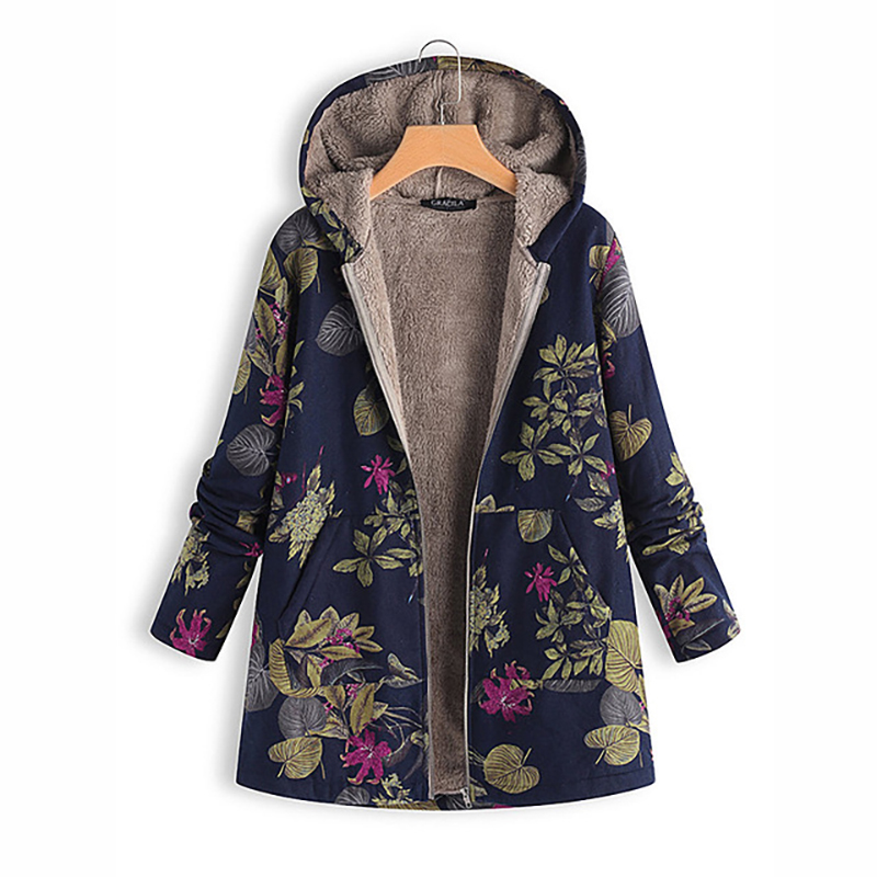 Maternity Tops Thicken Full Printed Coats Winter Plus Size 5XL Outwear Pregnancy Clothing Winter Coats For Pregnant Women Warm