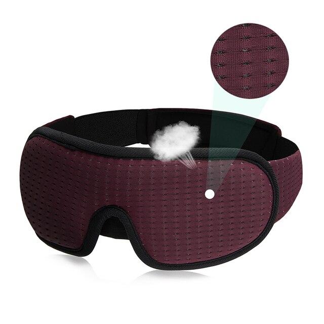 3D Sleeping Mask Block Out Light Soft Padded Sleep Mask For Eyes Slaapmasker Eye Shade Blindfold Sleeping Aid Face Mask Eyepatch 6