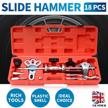 Slide Hammer Set Dent Bearing Puller Tool Kit Wrench Adapter Axle Hub Auto Set Internal/External Puller Bearing Remover Tool multifunction internal bore bearing puller removal kit inner hole slide hammer puller inner bearing puller disassembly tool 1pc