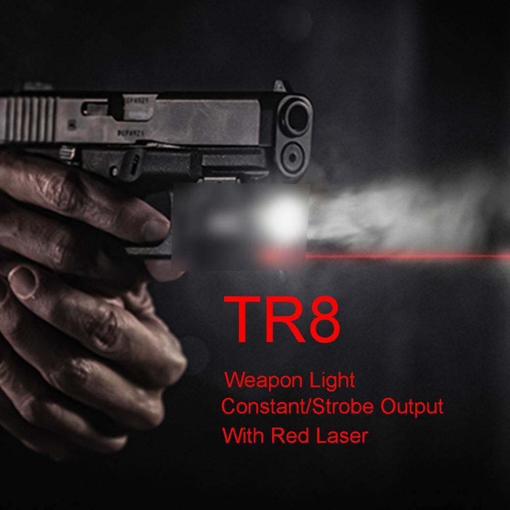 Tactical TLR Fullsize LED Weapon Light With Red Laser Sight For Pistol Hunting Glock 1 8 Hk USP SIG CZ Laser Flashlight