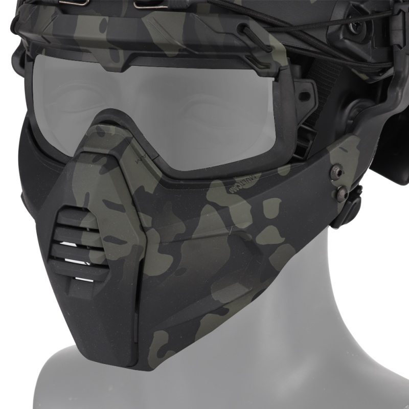 Detachable Mask Airsoft/CS/Skiing/Snowmobile/Cycling/Halloween Sports Goggle Mask Tactical Paintball Glasses KT01