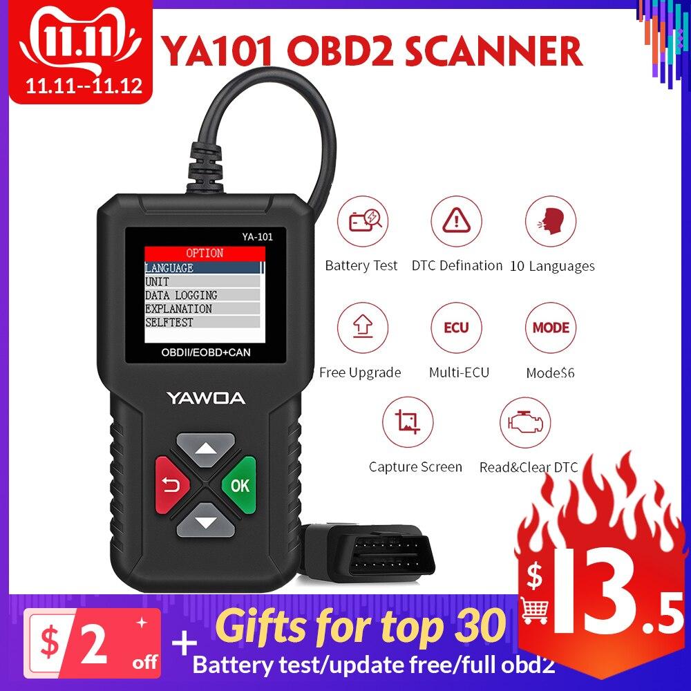 Ediag YA101 YA-101 OBDII/EOBD 16Pin Code Reader graph datenstrom USB update OBD2 Diagnose Werkzeug PK Cr3001 om123 ad310 elm327
