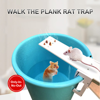 Caminhe a prancha mouse armadilha redefinir automático balde humano roedor ratos rato catcher|Armadilhas| |  -