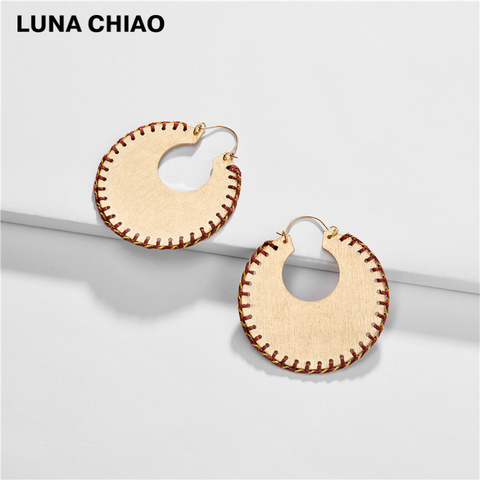 LUNA CHIAO Trendy Fashion Big Metal Hoop Earring Braided Handmade Big Boho Statement Earrings for Women Pakistan