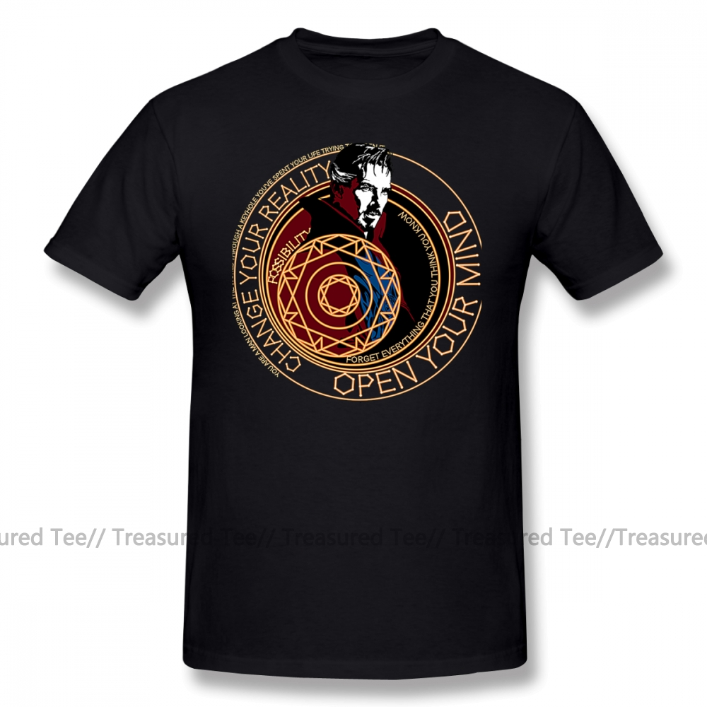 Doctor Strange T Shirt Dr Strange T-Shirt Man Graphic Tee Shirt Awesome Classic Cotton Short Sleeve Plus Size  Tshirt