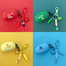 Cute Silicone Cover for Samsung Galaxy Buds Buds+ Plus Case Charging Box Sleeve Protect Case Bluetooth Earphone Skin Keyring