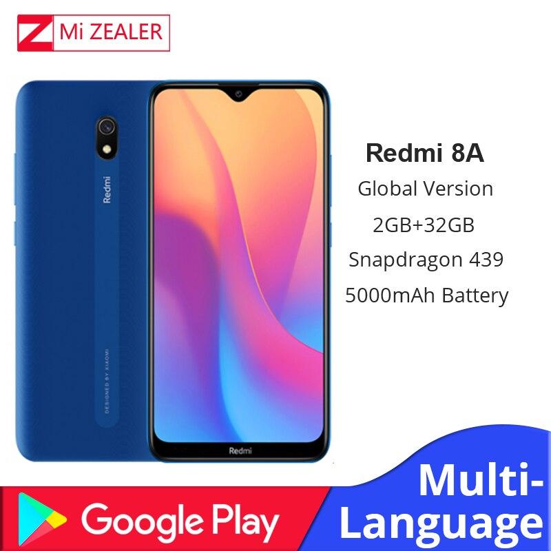 New Global Version Xiaomi Redmi 8A 2GB RAM 32GB ROM Snapdragon 439 12MP Camera 5000mAh Battery Smartphone Octa Cellhphone