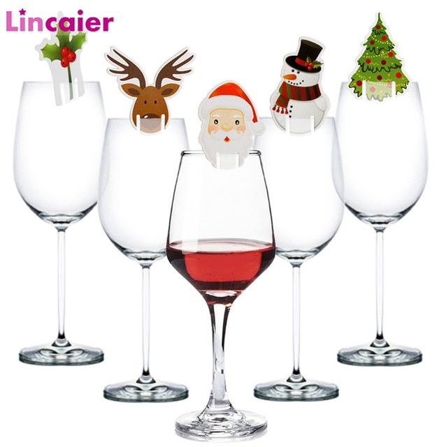 10pcs Santa Claus Snowman Tree Wine Glass Cards 2019 Merry Christmas Decoration For Home Table Ornaments Xmas Gift 2020 New Year 13