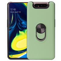 Luxe Shockproof Telefoon Gevallen Voor Samsung Galaxy A80 A90 Case Vinger Ring Shell Cover Auto Magneet Air Outlet Beugel coque