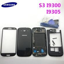 Parti di ricambio Completa Housing Caso della copertura di Batteria + Bottoni + Pannello In Vetro Per Samsung Galaxy S3 i9300 i9305 9300i + strumenti
