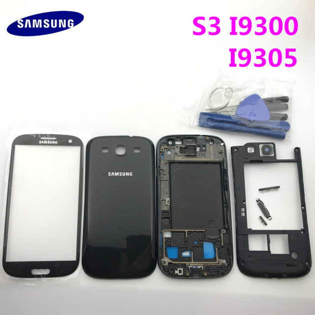 Replacement Parts Full Housing Case Battery cover+Buttons+Glass Panel For Samsung Galaxy S3 i9300 i9305 9300i+Tools