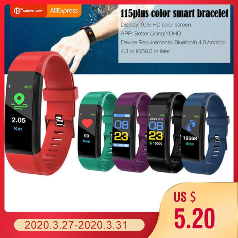 115 más inteligente reloj de las mujeres de los hombres Monitor de ritmo cardíaco rastreador de fitness de presión arterial 0,96 pulgadas reloj inteligente reloj deportivo para ios android Reloj inteligente I5 para mujeres/hombres Monitor de ritmo cardíaco Seguimiento de la presión arterial Bluetooth reloj inteligente para mujeres para Apple Watch Andriod