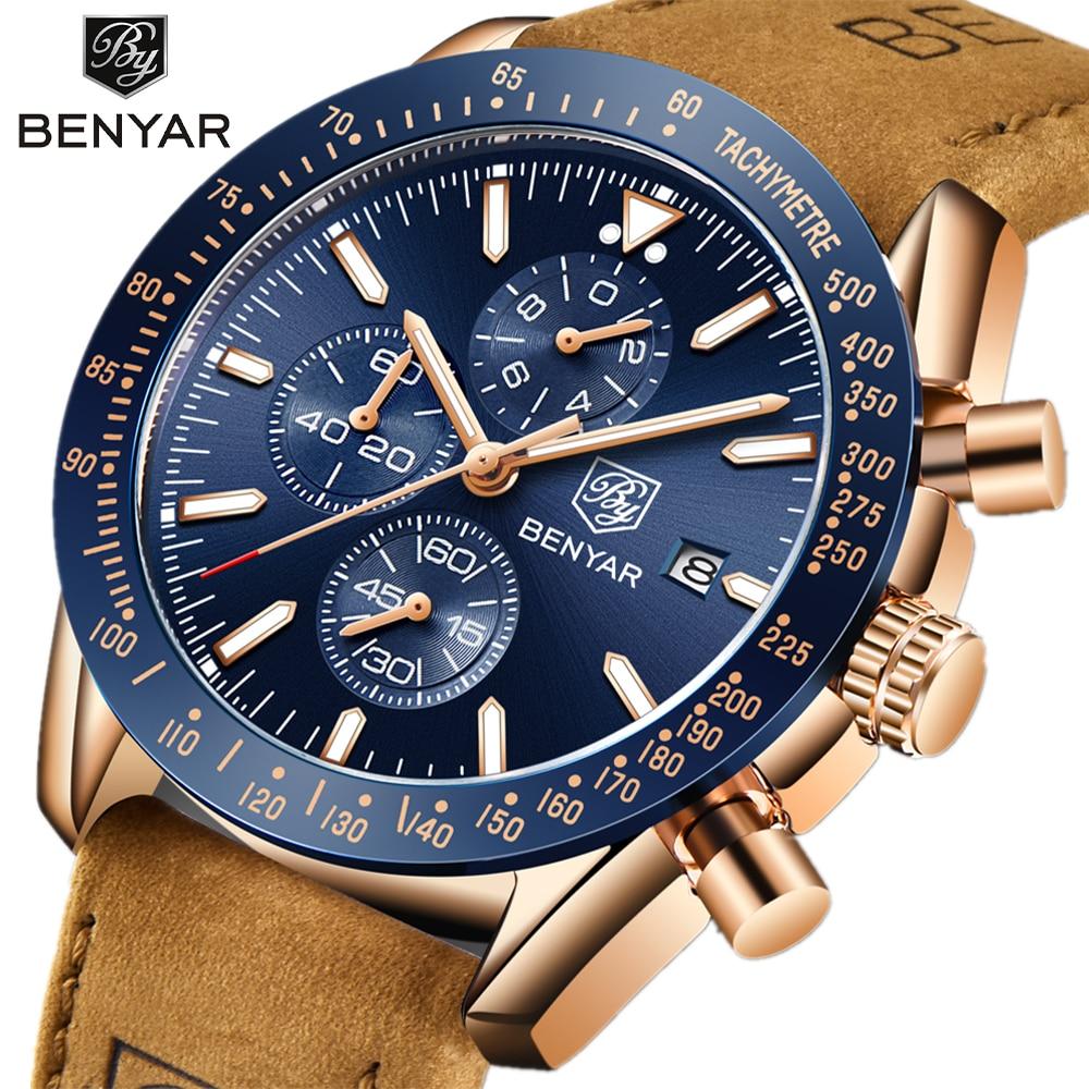 BENYAR Men Watches Brand Luxury Silicone Strap Waterproof Sport Quartz Chronograph Military Watch Men Clock Relogio Masculino Quartz Watches  - AliExpress